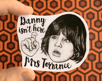 The Shining Danny Torrance Vinyl Laptop Sticker | Phone Decal
