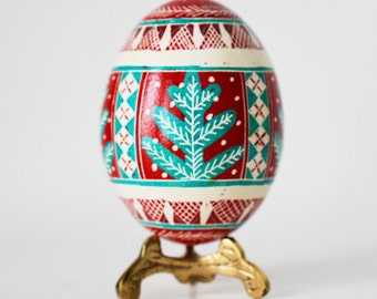 Christmas ornament pysanka egg traditional Christmas decor and gift ideas