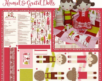 Hansel & Gretel Dolls and Accessories Panel and/or DIY Kit from Just Another Walk in the Woods by Stacy Iest Hsu for Moda, 1 Panel