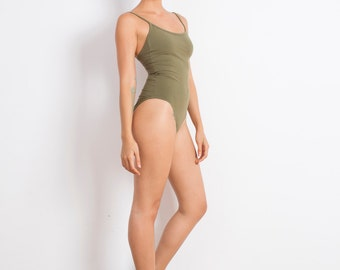 Olive Bodysuit - Bodysuit - One Piece - Leotard - One Piece Swimsuit - Swimsuit
