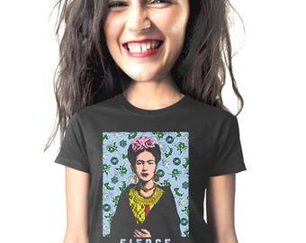 frida kahlo t-shirt, feminist art, art history tee, mexican art, fierce, type, for artist, for art student,  t-shirt, mexican artist, s-2xl