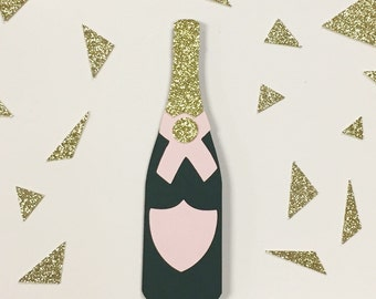 Pink Champagne Bottle Photo Prop