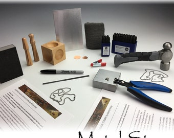 BASIC Metal Jewelry STAMPING KIT - Great Tools To Get Started making great jewelry - Includes Instructions