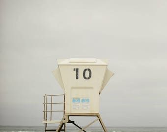 Mission Beach #10 Life Guard Stand  - Vertical