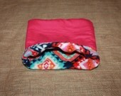Medium Large Hot Pink Aztec Pouch for Small Pocket Pets- Guinea Pigs, Rats, Rodents, Hedgehogs and More!