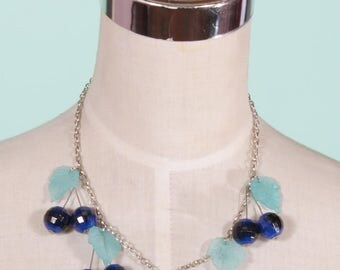 Blue Berry Beaded Fruity Necklace