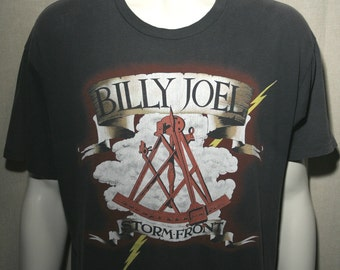 1989 Billy Joel Storm Front Only the Good Die Young - tour album concert t-shirt - men's sz L/XL