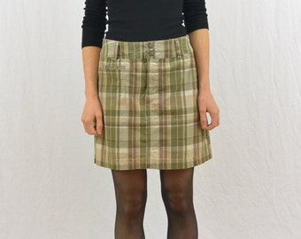 Vintage Plaid Mini Skort, Size Small, High Waisted, Grunge, 90's Clothing, My So Called Life, Tumblr Clothes, Hipster, Indie