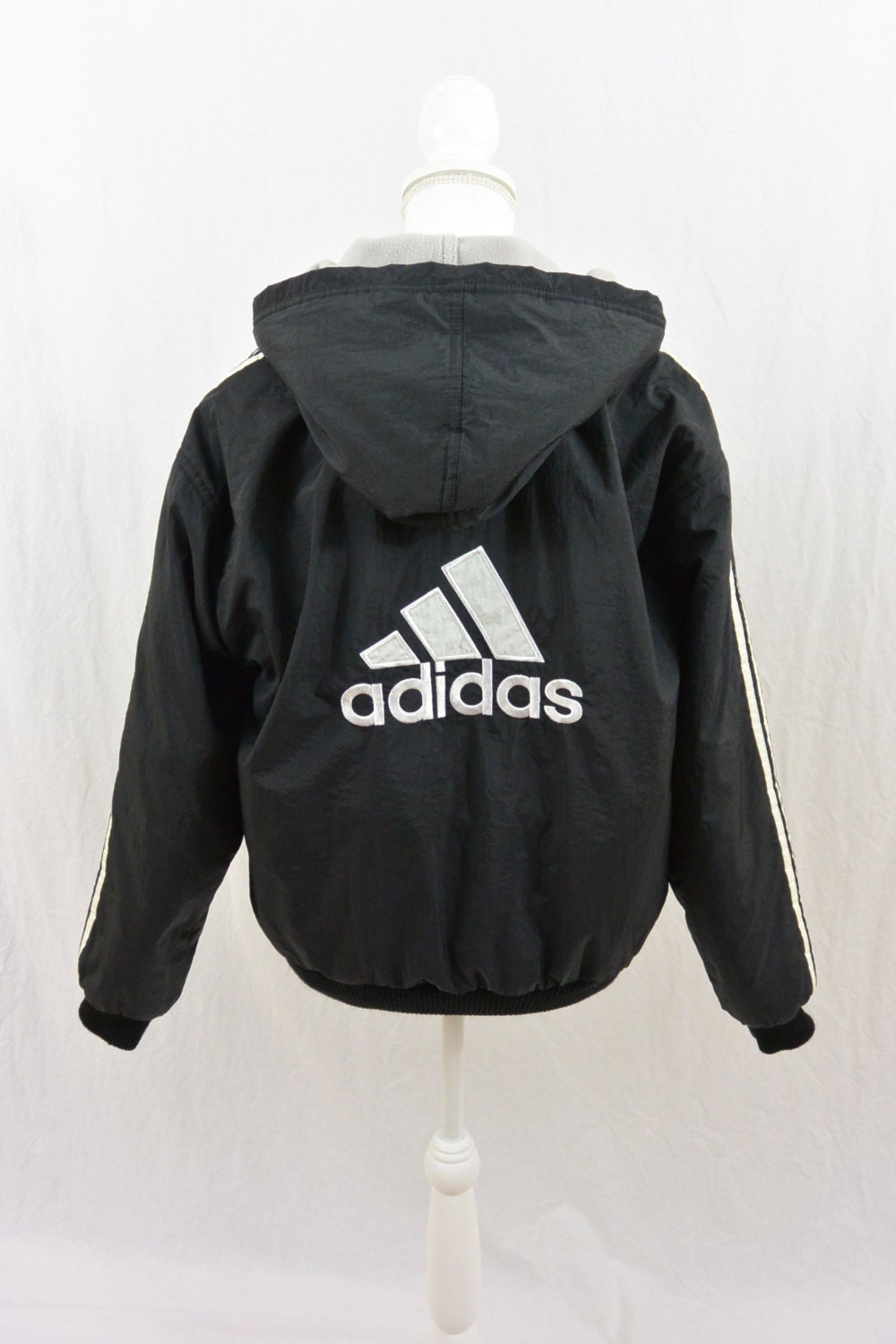 vintage adidas jacket coat size xs small puffer jacket. Black Bedroom Furniture Sets. Home Design Ideas