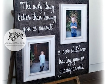 Grandparent Gifts, The Only Thing Better, Grandparents Picture Frame, Great Grandparents Gift, Custom Picture Frame Gift 20x20