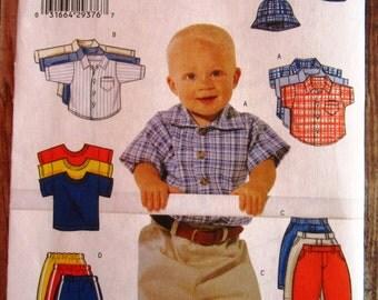 Infant Boys Shirt, T-Shirt, Pants and Hat Sizes L XL Butterick Pattern 6030 UNCUT