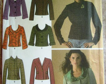 Misses/Miss Petite Jacket with Front and Collar Variations Sizes 8 10 12 14 16 Simplicity Pattern 4412 UNCUT
