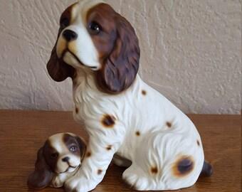Ceramic Spaniel Figurine - Hunting Bird Dogs - Made in Japan - Oak Hill Vintage