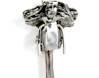 Sterling Silver Angel Jewelry Pendant - Angel Abree Is Full Of Grace - Empowerment Sterling Silverware Angel Pendant - Jewelry Pendant -2156