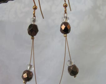Chocolate Glass Earrings