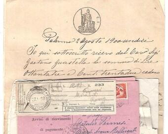 Italian paper ephemera set - From 1900 to 1950
