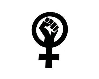 Large Female Feminist Resistance Vinyl Sticker