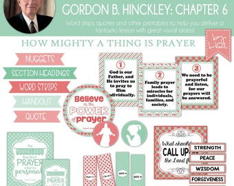 Relief Society Lesson Helps, Gordon B. Hinckley Lesson #6, RS Lesson Aides - Teachings of the Presidents of the Church, PRINTABLE Download