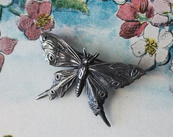 Vintage Sterling Butterfly Pin Vintage Sterling Butterfly Brooch Vintage Small Sterling Butterfly Pin