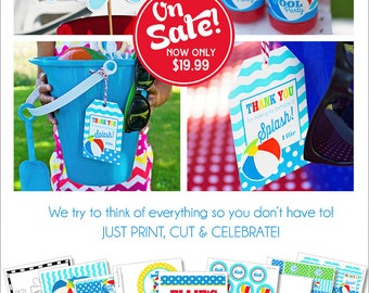 Pool Party Decorations | Swimming Pool Birthday | Summer Birthday Party | Beach Birthday | Pool Party Banner | Amanda's Parties To Go