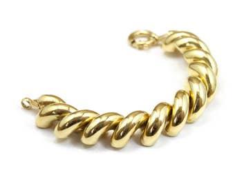 Vintage San Marco Bracelet 14k Yellow Gold Bracelet Over 90 grams Large Link