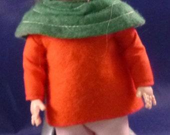 Vintage Sleepy Eye Rosebud Doll Made in England, 1950s