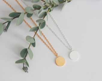 Circle Necklace, Charm Necklace Gift for Her, Jewelry, Bridesmaid Jewelry, Bridesmaid Gift, Necklace Gift for Mom, Jewelry Gifts Wife Gift