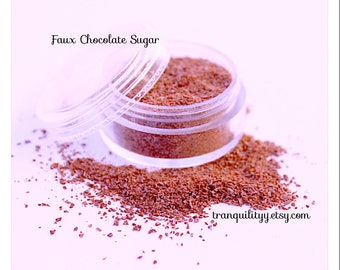 Faux Chocolate Sugar  , Polymer Clay Powder Chocolate Sugar, 5 Grams ,Decoden , Cell Phone, Chocolate, Cookies, Cakes, By: Tranquilityy