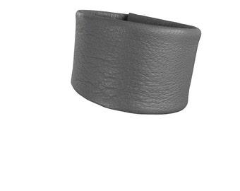 Grey Lambskin - Narrow cuff bracelet - Leather Cuff - Soft Leather Bracelet Cuffs - Gray leather bracelet - Gray cuff - Lambskin cuff