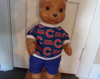 Concrete Bear Clothes --- Chicago Cubs Shirt and Pants
