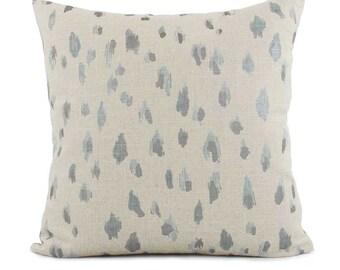 Gray Cheetah Pillow Cover 18x18, 20x20, 22x22 Eurosham or Lumbar, Silver Pillow, Cheetah Print, Throw Pillow, Accent Pillow, Lacefield Asher
