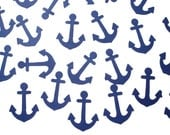 100 Anchor Confetti, Nautical Baby Shower, Beach Wedding Party Decorations - No323