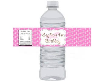 SALE Cowgirl Water Bottle Label 8.5x11 JPEG sheet Personalized
