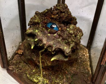 Handmade Sculpture. 'Podgeborne, The Swamp Slumberer'. Fantasy Art with a Magical Story