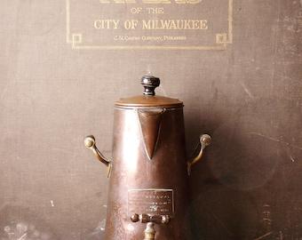 Vintage Ash's English Copper KaffeeKanne - Coffee Pot with Spigot
