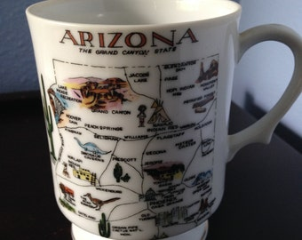 Vintage Arizona Coffee Cup, Vintage Souvenir Cup, Mid Century Mug, Commemorative tea/coffee cup