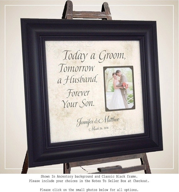 Personalized Wedding Picture Frames For Parents : Wedding Picture Frame for Groom Parents, Personalized Wedding Photo ...
