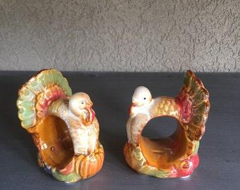 Turkey napkin rings etsy for Napkin rings for thanksgiving