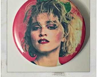 "80's Madonna - Large 2.25"" Pin Back Button"