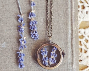 lavender shadowbox  necklace.