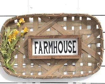 Farmhouse, Handmade Wood Sign 6 X 12 inches