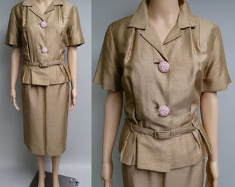 Vintage 1940s Suit   40s Fox Original Suit   Gold 40s Suit   40s Suit   40s Tailored Suit   Original   1940s Designer Suit  