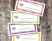 Fill In Printable Love Coupons - Valentine Vouchers - Write-In DIY Gift - Romantic Coupons