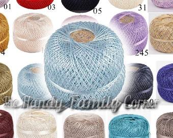 Ball Ajur. Viscose Silk Yarn, Rayon, sleek shining summer yarn Lace crochet yarn. Colour of your choice. Wholesale DSH. SALE