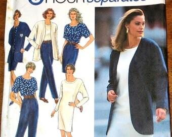 Vintage Sewing Pattern Simplicity 8174 Jacket, Dress Pants Top Womens Misses Ensemble Size 6 8 10 12 14 16 Bust 30 31 32 34 36 38 Uncut FF