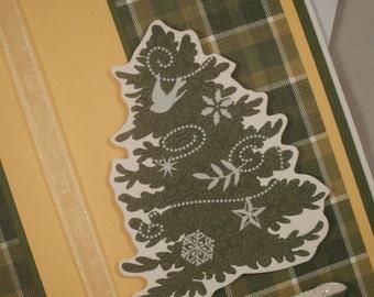 Christmas Card, Happy Holidays Card, Christmas Tree Card, Christmas, Plaid, Happy Holidays