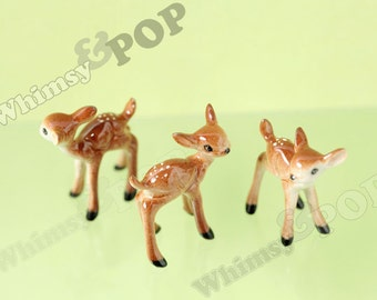 1 - Kawaii Cute Brown Deer Doe Dollhouse Miniature, Deer Dollhouse Miniature, Deer Terrarium Finding,  15mm x 38mm (R6-068)