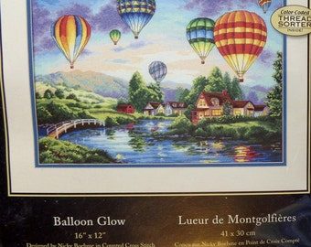 Dimensions Gold Collection BALLOON GLOW Counted Cross Stitch Kit By Nicky Boehme