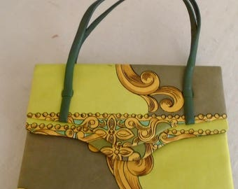 Vintage 1960s Pucci Purse Small Silk Printed Evening Bag
