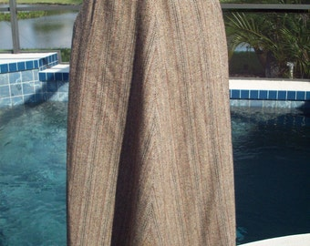 Tan All Wool and Lined Flowy Skirt